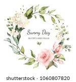 card. watercolor invitation... | Shutterstock . vector #1060807820