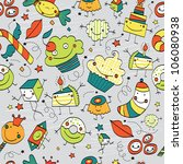seamless pattern.sweet party. | Shutterstock . vector #106080938