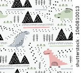 adorable seamless pattern with... | Shutterstock .eps vector #1060810013