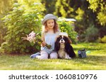 child girl playing with her... | Shutterstock . vector #1060810976