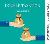 concept of  double taxation and ... | Shutterstock .eps vector #1060817660