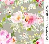 seamless summer pattern with... | Shutterstock . vector #1060820930