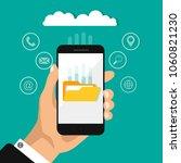 flat design of upload cloud...   Shutterstock .eps vector #1060821230
