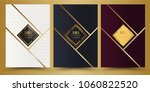 luxury premium menu design... | Shutterstock .eps vector #1060822520