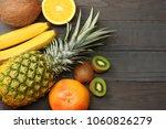 mix of fresh coconut  banana ... | Shutterstock . vector #1060826279