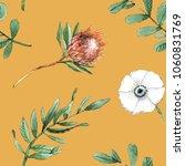 yellow watercolor seamless... | Shutterstock . vector #1060831769