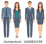 men and women standing in full...   Shutterstock .eps vector #1060832198