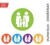 family icon. happy family icon... | Shutterstock .eps vector #1060834664