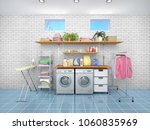 design room for washing and... | Shutterstock . vector #1060835969