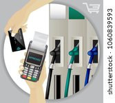 fuel dispenser and fuel nozzles ... | Shutterstock .eps vector #1060839593