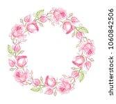 ink  pencil  watercolor rose... | Shutterstock .eps vector #1060842506
