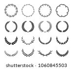 collection of different black... | Shutterstock .eps vector #1060845503