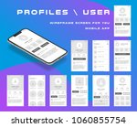 10 in 1 ui kits. wireframes... | Shutterstock .eps vector #1060855754