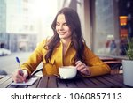 leisure and people concept  ... | Shutterstock . vector #1060857113