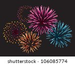 Realistic Vector Fireworks...