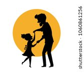 silhouette of father and... | Shutterstock .eps vector #1060861256