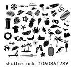 summer time beach holidays... | Shutterstock .eps vector #1060861289