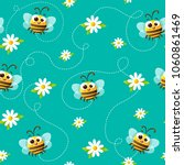 seamless vector pattern of cute ... | Shutterstock .eps vector #1060861469