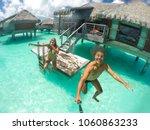 bora bora island in french... | Shutterstock . vector #1060863233
