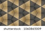 Eco Wood 3d Hexagons With Blac...