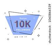 10k followers thank you card.... | Shutterstock .eps vector #1060866539