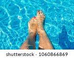 female legs in swimming pool.... | Shutterstock . vector #1060866869