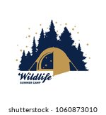 vector camping logo  scout... | Shutterstock .eps vector #1060873010