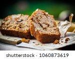 vegan banana bread | Shutterstock . vector #1060873619
