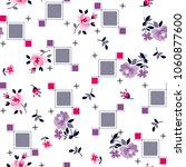 decorative roses pattern with... | Shutterstock .eps vector #1060877600