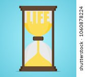 hourglass with the word life.... | Shutterstock .eps vector #1060878224