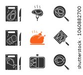 food preparation glyph icons... | Shutterstock .eps vector #1060882700