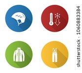 winter activities flat design... | Shutterstock .eps vector #1060883384