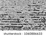 white black grey brick wall... | Shutterstock . vector #1060886633