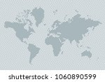 gray world map with lines.... | Shutterstock .eps vector #1060890599