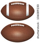 football balls isolated on white | Shutterstock . vector #106089230