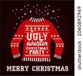 ugly christmas party sweater | Shutterstock .eps vector #1060892969