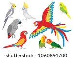 Set Of Vector Cartoon Colorful...