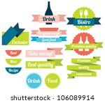 set of food badges  labels and... | Shutterstock .eps vector #106089914