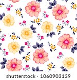 colorful flowers pattern and... | Shutterstock .eps vector #1060903139