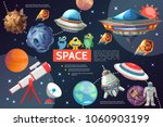 Cartoon Space Elements...