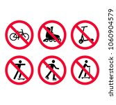 red prohibition signs set. no... | Shutterstock .eps vector #1060904579