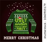 ugly christmas party sweater | Shutterstock .eps vector #1060905179