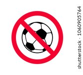 no ball games red prohibition... | Shutterstock .eps vector #1060905764