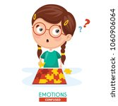 vector illustration of confused ... | Shutterstock .eps vector #1060906064