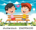 vector illustration of kids...   Shutterstock .eps vector #1060906100