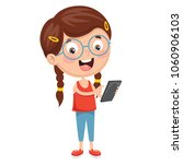 vector illustration of kid... | Shutterstock .eps vector #1060906103