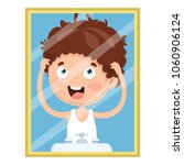 vector illustration of kid... | Shutterstock .eps vector #1060906124