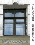 old window with peeling paint...   Shutterstock . vector #1060907948