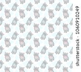 cute seamless pattern with gray ... | Shutterstock .eps vector #1060910249