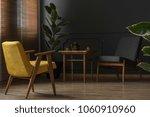 elegant and dark apartment... | Shutterstock . vector #1060910960